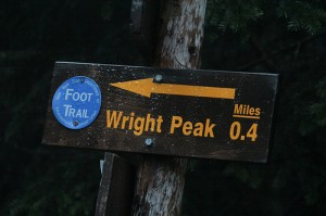 trail marker for wright peak
